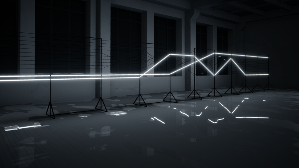 Powerline -audiovisual installation